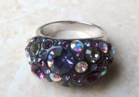 Chunky Multi-Coloured Sparkling Rhinestone Cocktail Style Ring